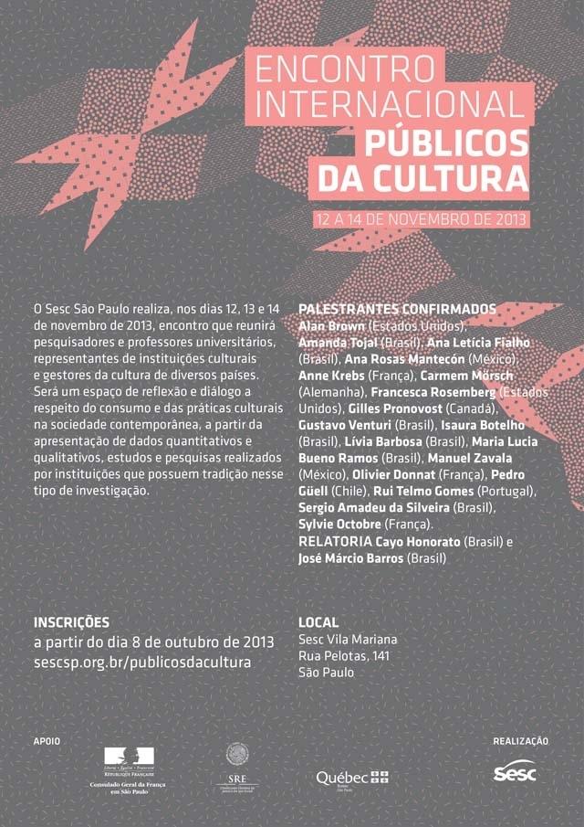 Encontro Internacional Públicos da Cultura